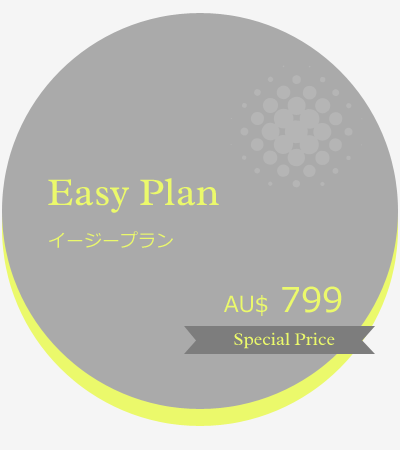 Easy Plan イージープラン AU$799 Special Price